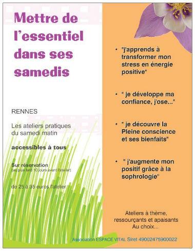 Atelier de sophrologie du samedi matin 2012 / 2013